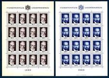 LIECHTENSTEIN - 1969 - Pionieri della filatelia (2) - Minifogli di sedici