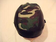 New Black & Camouflage PU & Cotton  Shaped Bandana / Zandana