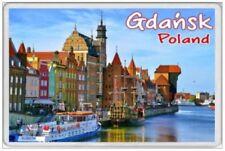 JUMBO FRIDGE MAGNET -GDANSK POLAND TRAVEL TOURIST TOURISM HOLIDAY SOUVENIR