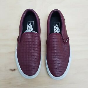 VANS   Unisex Leather Slip on Sneaker Shoes [ Size EUR 38 or US 7.5 / UK 5 ]