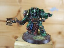 CLASSIC METAL WARHAMMER SPACE MARINE LIBRARIAN IN TERMINATOR ARMOUR PAINTED (774