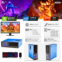 Custom Compact Dell Gaming PC Intel i5 / 8GB / 480GB SSD / GTX 1050Ti / Win10