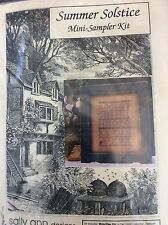 Summer Solstice Mini Sampler Kit Sally Ann Designs Complete Kit OOP1993 W Frame