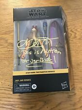 Ahmed Best signed Jar Jar Binks Black Series with Quote Gold Paint Pen TPM