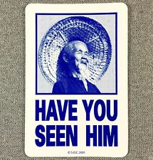 Powell Peralta HAVE YOU SEEN HiM Animal Chin Skateboard Sticker 4.25in blue si