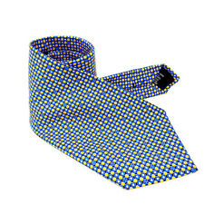 Chanel Neck Tie Blue Yellow Woman Authentic Used Y1365