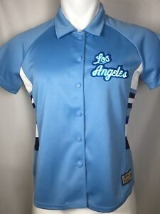 Women's Los Angeles Lakers Hardwood Classics Throwback Blue Warm Up Jersey LARGE