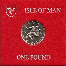 IOM Isle of Man Manx 1980 £1 TT Triskeles over Island unc cased MM AA
