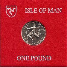 IOM Isle of Man Manx 1980 £1 TT Triskeles over Island unc cased MM AA