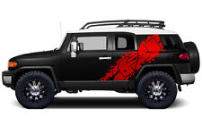 Custom Vinyl Graphics Decal Wrap for 2007-14 Toyota FJ Cruiser Side Graphic RED