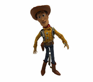"Toy Story Pull String 15"" Woody with Hat Disney Pixar WORKS *READ DESCRIPTION*"