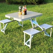 Portable Fireproof Folding Outdoor Camp Suitcase Bbq & PicnicTable + 4 Seats