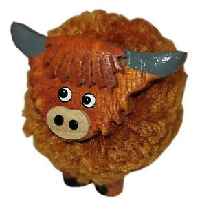 Standing Mini Pom Pom Highland Cow Ornament by Langs