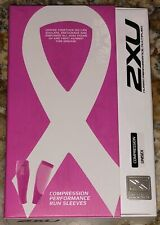2XU Compression Performance Run Calf Sleeve Pair Hot Pink Running NEW Mens Wmn L
