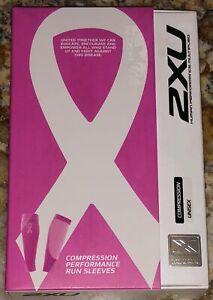 2XU Compression Performance Run Calf Sleeve Pair Hot Pink Running NEW Mens Wmn L