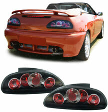 BLACK REAR BACK LIGHTS FOR MG F CABRIO CONVERTIBLE RD TF 1995-2005 MODEL GIFT