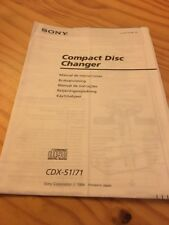 Sony CDX-51/71 chargeur CD autoradio notice utilisation mode d' emploi éd. 94