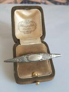 Zauberhafte ältere Brosche Silber 925, wunderschöne Ornamente, Meistermarke
