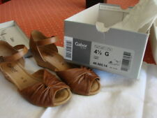 SAndales, GABOR, nu pied compensée , escarpin confort37,5 largeG marron vieilli
