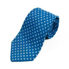 Brooks Brothers Slate Blue Geometric Tie 10414
