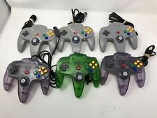 Lot of 6 Official Nintendo 64 N64 Controllers - AS-IS for Parts or Repair