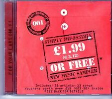 (EI782) Simply Impossible, New Music Sampler - Mission 001 - 2000 CD