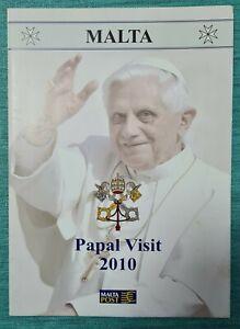 2010 MALTA  PAPAL VISIT POPE BENEDICT XVI - PRESENTATION FOLDER No. 797 + SHC