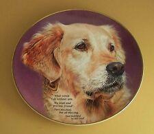 Cherished Golden Retrievers Loyal And Precious Plate The Danbury Mint Dog