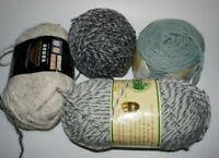 "4 Skeins, Lion Brand, ""Wool-Ease"", Acrylic/Wool Blend, Crochet/Knitting Yarn"