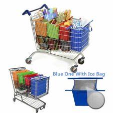 Carro de la compra bolsas reutilizables de Bolso Trolley bolsa de comestibles Plegable Portátil 4 un./set