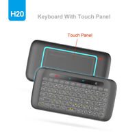 H20 Wireless Keyboard English Touchpad LED Backlit for Android Smart TV Box