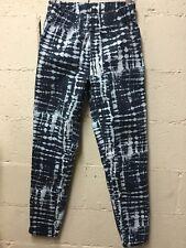 Soft Surroundings Melrose Elastic Jeans Pants Size Small Tie-dye Bleach 052