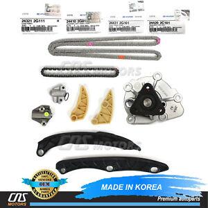 ⭐GENUINE Timing Chain Kit Water Pump for 11-14 Hyundai Sonata Optima 2.0L Turbo⭐