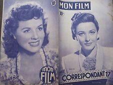 "MON FILM 1949 N 129 "" CORRESPONDANT 17 "" avec LARAINE DAY -"