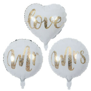 Mr Mrs Love Balloon Wedding Engagement