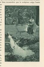 ANTIQUE FARM WOMAN VEGETABLES DONKEY MAN LONG HORN SHEEP BLACK DOG PRINT