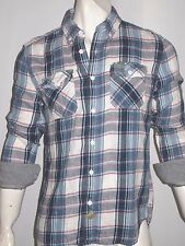 Superdry men's light flannel laundered long sleeve shirt size xl NEW on SALE