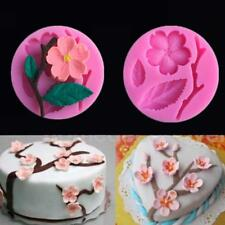 New Pretty Peach blossom Silicone Icing Mould Cake Decoration Topper Suga L0C0