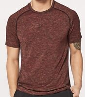 Lululemon Men's Metal Vent Tech Burgundy Short Sleeves Crew Neck T Shirt
