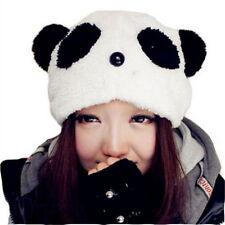 Super Cute Girls Winter Panda Animal Plush Cap Warm Hat Kawaii Cartoon Beanie F