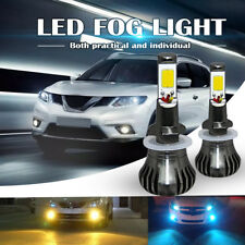 2× Fog Light 880/881 899 COB Bulb Yellow LED Light Still/Flash Mode Kit For Car