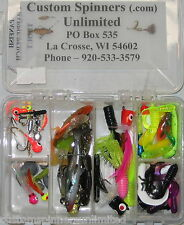 Panfish Lure Assortment Box Storm Spinners Crappie Bluegill Tackle Grub Jig Hook