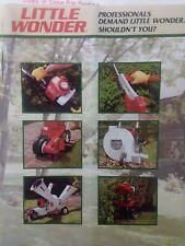 Mantis Little Wonder Garden Tiller & Implements Sales Brochure Catalog Manual