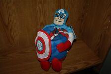 """Avengers CAPTAIN AMERICA Hugger NEW Pillow Plush with 40"""" X 50"""" Blanket Marvel"""