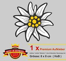 Wetterfest Auto Aufkleber Alpen Edelweiß Bayern Blumen Styling Sticker Motorrad