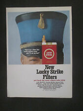 Lucky Strike New Filters 1965 Original Vintage Print Ad