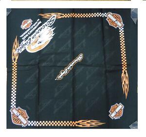 BA88064 Harley Davidson Bandana foulard testa collo nero stampato screamin eagle