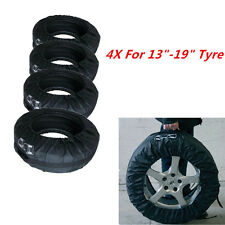 "Set of 4 Tyre Wheel Cover Storage Bag Spare Tyre Cover 13""-19"" Winter Snowing"