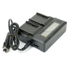Dual Channel LCD Digital Battery Charger For Olympus BLN-1 BLN1 OM-D EM1 EM5 EP5