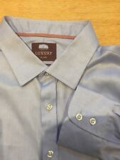 M&S MENS Luxury Collection Two Fold Cotton 18.5  RRP £45 Current